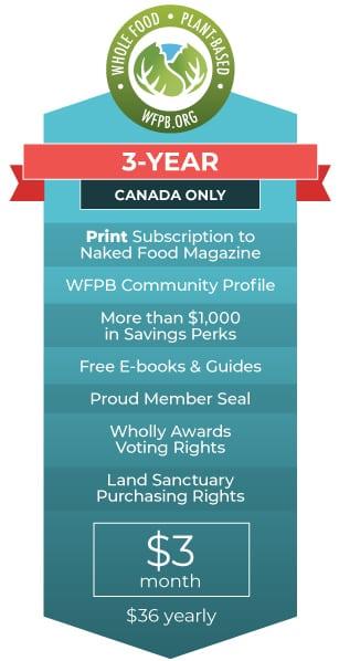 WFPB.ORG Membership | 3 Year CA