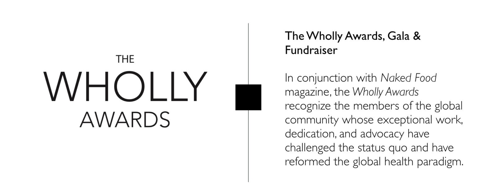 WFPB.ORG | Wholly Awards